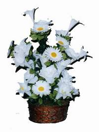 yapay karisik çiçek sepeti  Denizli çiçek gönderme sitemiz güvenlidir