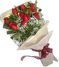 11 adet kirmizi güllerden özel buket  Denizli İnternetten çiçek siparişi