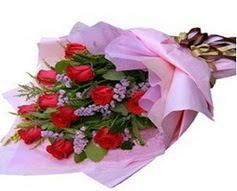 11 adet kirmizi güllerden görsel buket  Denizli uluslararası çiçek gönderme