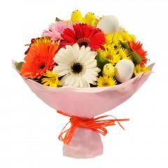 Karışık mevsim buketi Mevsimsel çiçek  Denizli İnternetten çiçek siparişi