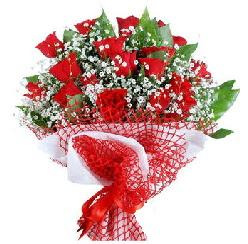 11 kırmızı gülden buket  Denizli çiçek , çiçekçi , çiçekçilik