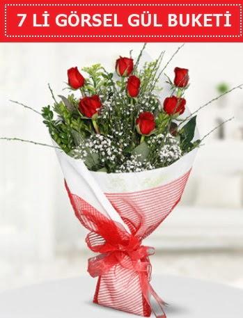 7 adet kırmızı gül buketi Aşk budur  Denizli çiçek online çiçek siparişi