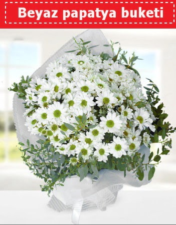 Beyaz Papatya Buketi  Denizli çiçek , çiçekçi , çiçekçilik