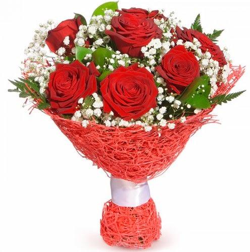 7 adet kırmızı gül buketi  Denizli çiçek yolla , çiçek gönder , çiçekçi