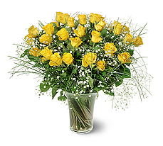 Denizli yurtiçi ve yurtdışı çiçek siparişi  15 adet sarigül mika yada cam vazoda