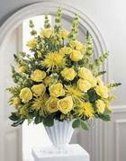 Denizli yurtiçi ve yurtdışı çiçek siparişi  sari güllerden sebboy tanzim çiçek siparisi