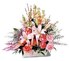 Denizli yurtiçi ve yurtdışı çiçek siparişi  mevsim çiçekleri sepeti özel tanzim