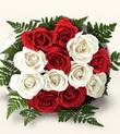 Denizli çiçek servisi , çiçekçi adresleri  10 adet kirmizi beyaz güller - anneler günü için ideal seçimdir -