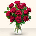 Denizli 14 şubat sevgililer günü çiçek  10 adet gül cam yada mika vazo da