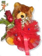 oyuncak ayi ve gül tanzim  Denizli çiçek yolla , çiçek gönder , çiçekçi