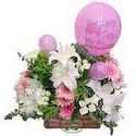 balon ve çiçeklerle tanzim  Denizli online çiçekçi , çiçek siparişi