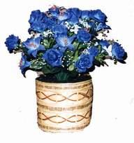 yapay mavi çiçek sepeti  Denizli çiçekçi telefonları