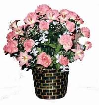 yapay karisik çiçek sepeti  Denizli çiçekçi mağazası