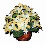 yapay karisik çiçek sepeti   Denizli yurtiçi ve yurtdışı çiçek siparişi