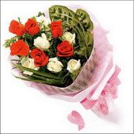 5 kirmizi 5 beyaz güllerden   Denizli çiçek yolla