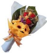 güller ve gerbera çiçekleri   Denizli uluslararası çiçek gönderme