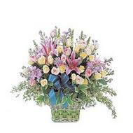 sepette kazablanka ve güller   Denizli anneler günü çiçek yolla