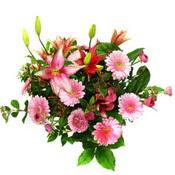 lilyum ve gerbera çiçekleri - çiçek seçimi -  Denizli anneler günü çiçek yolla