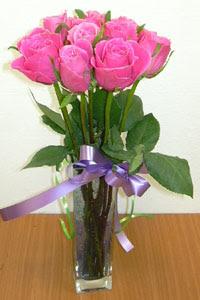 cam vazo içerisinde 11 adet gül  Denizli online çiçekçi , çiçek siparişi
