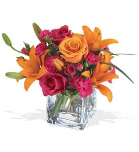 Denizli internetten çiçek satışı  cam içerisinde kir çiçekleri demeti