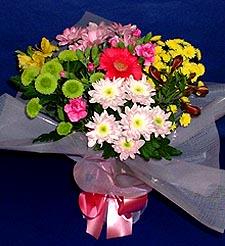 Denizli kaliteli taze ve ucuz çiçekler  küçük karisik mevsim demeti