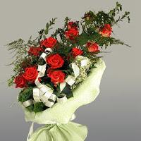 Denizli çiçek mağazası , çiçekçi adresleri  11 adet kirmizi gül buketi sade haldedir
