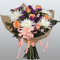 güller ve kir çiçekleri demeti   Denizli çiçek yolla , çiçek gönder , çiçekçi