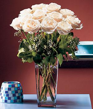 Denizli hediye çiçek yolla  Cam yada mika vazo içerisinde 12 gül