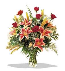 Denizli çiçek siparişi sitesi  Pembe Lilyum ve Gül