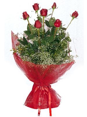 Denizli çiçek siparişi sitesi  7 adet gülden buket görsel sik sadelik