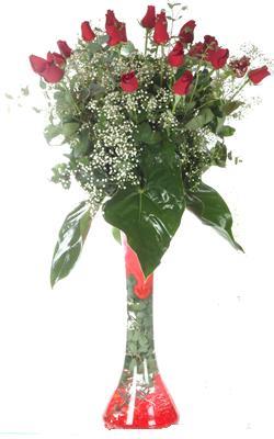 Denizli çiçek satışı  19 ADET GÜL VE FIL CAM AYAGI