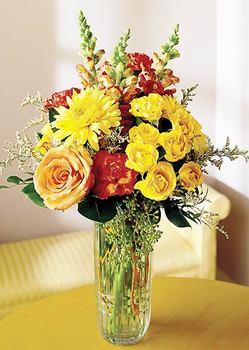 Denizli çiçek , çiçekçi , çiçekçilik  mika yada cam içerisinde karisik mevsim çiçekleri