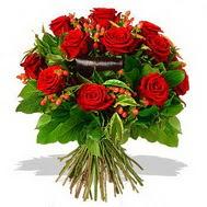 9 adet kirmizi gül ve kir çiçekleri  Denizli online çiçekçi , çiçek siparişi