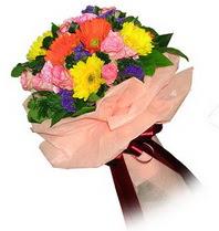 Denizli güvenli kaliteli hızlı çiçek  Karisik mevsim çiçeklerinden demet