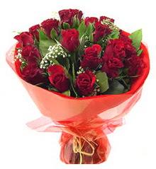 Denizli ucuz çiçek gönder  11 adet kimizi gülün ihtisami buket modeli