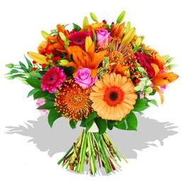 Denizli hediye sevgilime hediye çiçek  Karisik kir çiçeklerinden görsel demet