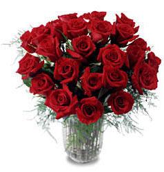 Denizli uluslararası çiçek gönderme  11 adet kirmizi gül cam yada mika vazo içerisinde