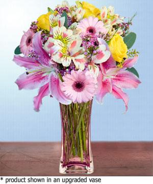 Anneme hediye karisik cam mevsim demeti  Denizli İnternetten çiçek siparişi
