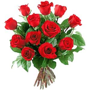 11 adet bakara kirmizi gül buketi  Denizli internetten çiçek siparişi