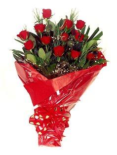 12 adet kirmizi gül buketi  Denizli çiçek yolla , çiçek gönder , çiçekçi