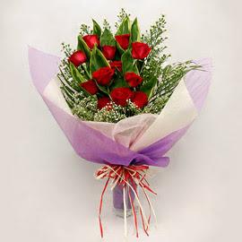 çiçekçi dükkanindan 11 adet gül buket  Denizli güvenli kaliteli hızlı çiçek