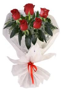 5 adet kirmizi gül buketi  Denizli çiçek yolla , çiçek gönder , çiçekçi