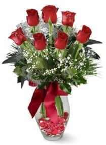 7 adet vazoda gül  Denizli online çiçekçi , çiçek siparişi  kirmizi gül