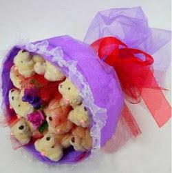 11 adet ayiciktan buket  Denizli İnternetten çiçek siparişi