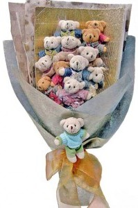 12 adet ayiciktan buket tanzimi  Denizli çiçek gönderme
