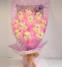 11 adet pelus ayicik buketi  Denizli 14 şubat sevgililer günü çiçek