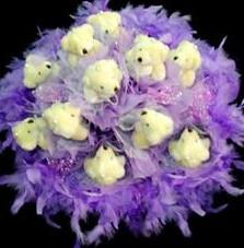 11 adet pelus ayicik buketi  Denizli çiçek servisi , çiçekçi adresleri