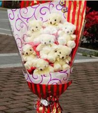 11 adet pelus ayicik buketi  Denizli çiçek mağazası , çiçekçi adresleri