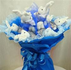 7 adet pelus ayicik buketi  Denizli çiçek servisi , çiçekçi adresleri