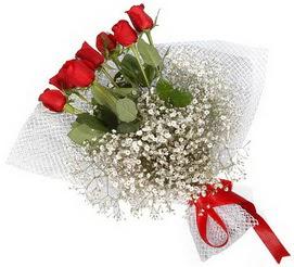 7 adet essiz kalitede kirmizi gül buketi  Denizli hediye çiçek yolla